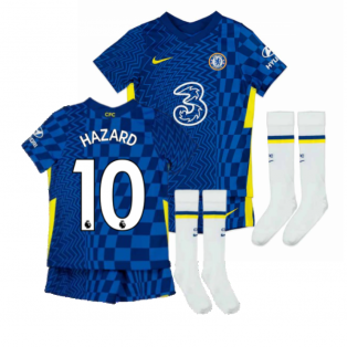 2021-2022 Chelsea Little Boys Home Mini Kit (HAZARD 10)