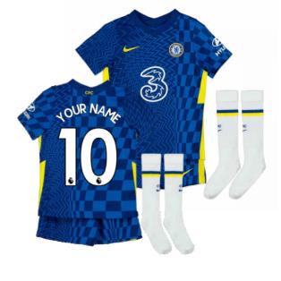 2021-2022 Chelsea Little Boys Home Mini Kit (Your Name)