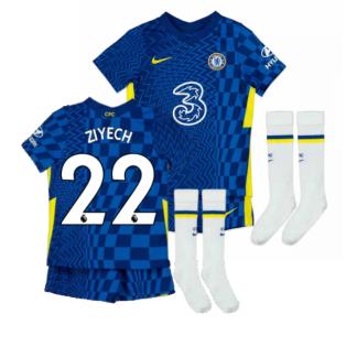 2021-2022 Chelsea Little Boys Home Mini Kit (ZIYECH 22)