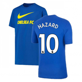 2021-2022 Chelsea Swoosh Club Tee (Blue) (HAZARD 10)