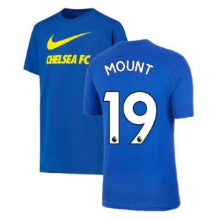 2021-2022 Chelsea Swoosh Club Tee (Blue) (MOUNT 19)