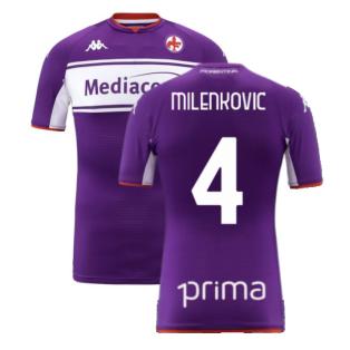 2021-2022 Fiorentina Home Shirt (Kids) (MILENKOVIC 4)