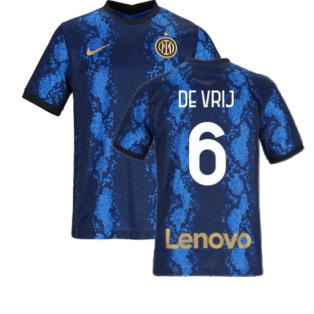 2021-2022 Inter Milan Home Shirt (Kids) (DE VRIJ 6)