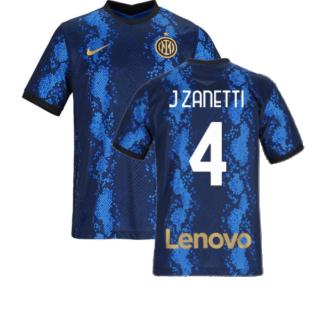 2021-2022 Inter Milan Home Shirt (Kids) (J ZANETTI 4)