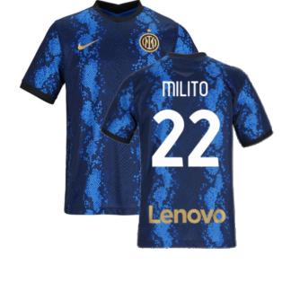 2021-2022 Inter Milan Home Shirt (Kids) (MILITO 22)