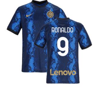 2021-2022 Inter Milan Home Shirt (Kids) (RONALDO 9)
