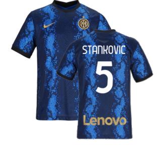 2021-2022 Inter Milan Home Shirt (Kids) (STANKOVIC 5)