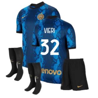 2021-2022 Inter Milan Little Boys Home Kit (VIERI 32)