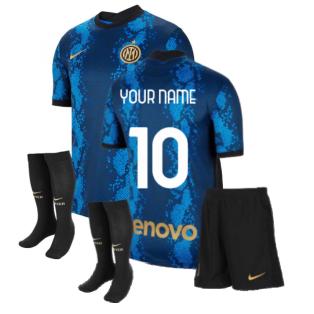 2021-2022 Inter Milan Little Boys Home Kit (Your Name)
