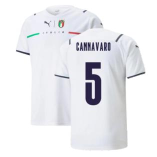 2021-2022 Italy Away Shirt (Kids) (CANNAVARO 5)
