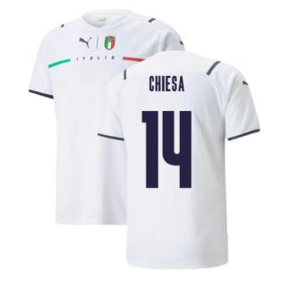 2021-2022 Italy Away Shirt (Kids) (CHIESA 14)