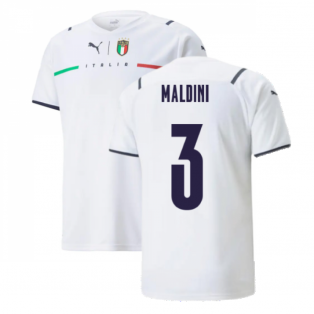 2021-2022 Italy Away Shirt (Kids) (MALDINI 3)