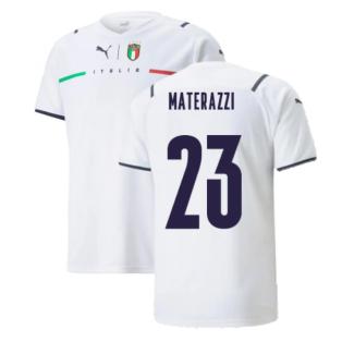 2021-2022 Italy Away Shirt (Kids) (MATERAZZI 23)