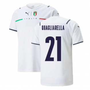 2021-2022 Italy Away Shirt (Kids) (QUAGLIARELLA 21)