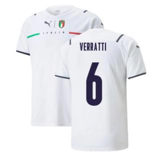 2021-2022 Italy Away Shirt (Kids) (VERRATTI 6)