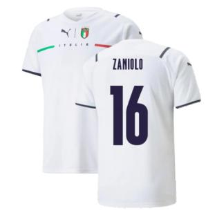 2021-2022 Italy Away Shirt (Kids) (ZANIOLO 16)
