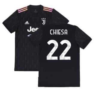 2021-2022 Juventus Away Shirt (CHIESA 22)