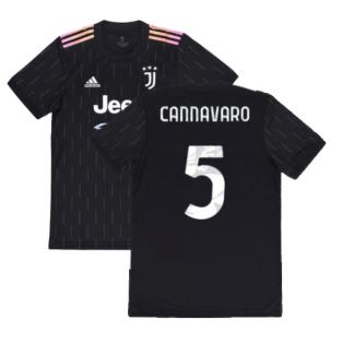 2021-2022 Juventus Away Shirt (Kids) (CANNAVARO 5)