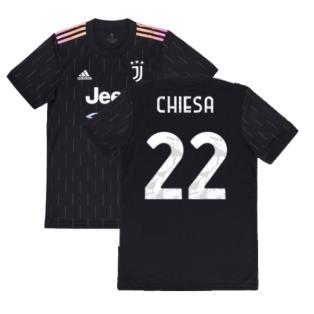 2021-2022 Juventus Away Shirt (Kids) (CHIESA 22)