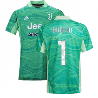 2021-2022 Juventus Home Goalkeeper Shirt (Lime) (BUFFON 1)