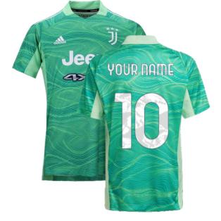 2021-2022 Juventus Home Goalkeeper Shirt (Lime) (Your Name)