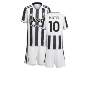 2021-2022 Juventus Home Mini Kit (PLATINI 10)