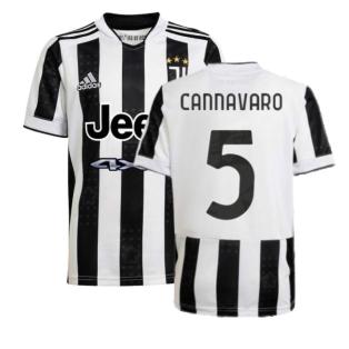 2021-2022 Juventus Home Shirt (Kids) (CANNAVARO 5)