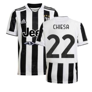 2021-2022 Juventus Home Shirt (Kids) (CHIESA 22)