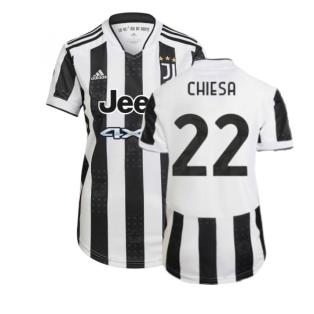 2021-2022 Juventus Home Shirt (Ladies) (CHIESA 22)