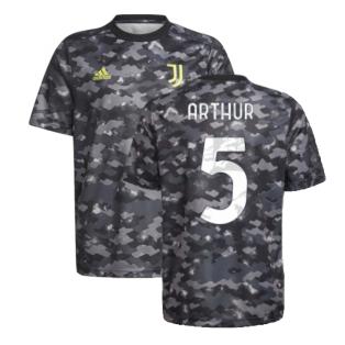 2021-2022 Juventus Pre-Match Training Shirt (Grey) (ARTHUR 5)