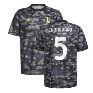 2021-2022 Juventus Pre-Match Training Shirt (Grey) (CANNAVARO 5)
