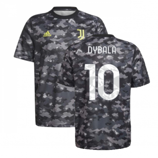 2021-2022 Juventus Pre-Match Training Shirt (Grey) (DYBALA 10)