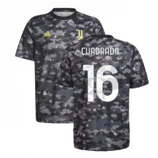 2021-2022 Juventus Pre-Match Training Shirt (Grey) - Kids (CUADRADO 16)