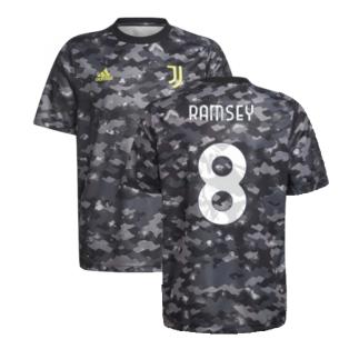 2021-2022 Juventus Pre-Match Training Shirt (Grey) - Kids (RAMSEY 8)