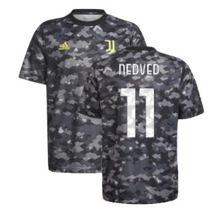 2021-2022 Juventus Pre-Match Training Shirt (Grey) (NEDVED 11)