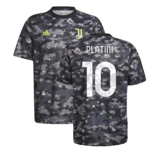 2021-2022 Juventus Pre-Match Training Shirt (Grey) (PLATINI 10)