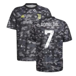 2021-2022 Juventus Pre-Match Training Shirt (Grey) (RONALDO 7)