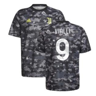 2021-2022 Juventus Pre-Match Training Shirt (Grey) (VIALLI 9)