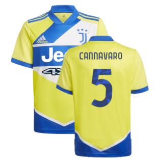 2021-2022 Juventus Third Shirt (Kids) (CANNAVARO 5)