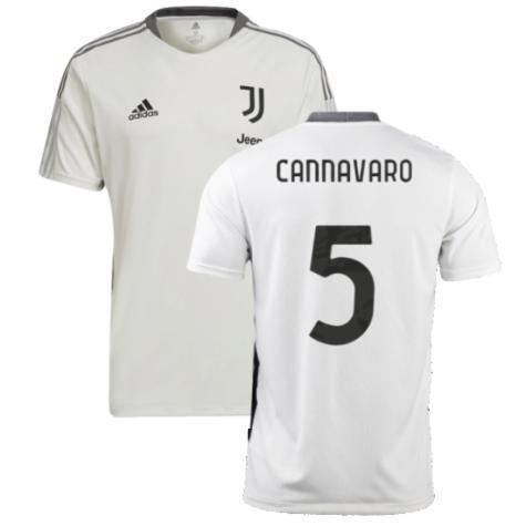 2021-2022 Juventus Training Shirt (White) (CANNAVARO 5)