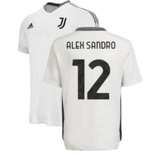 2021-2022 Juventus Training Shirt (White) - Kids (ALEX SANDRO 12)