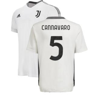 2021-2022 Juventus Training Shirt (White) - Kids (CANNAVARO 5)