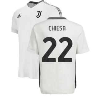2021-2022 Juventus Training Shirt (White) - Kids (CHIESA 22)