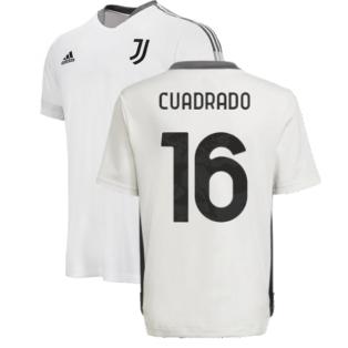 2021-2022 Juventus Training Shirt (White) - Kids (CUADRADO 16)