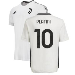 2021-2022 Juventus Training Shirt (White) - Kids (PLATINI 10)