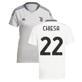 2021-2022 Juventus Training Shirt (White) - Ladies (CHIESA 22)