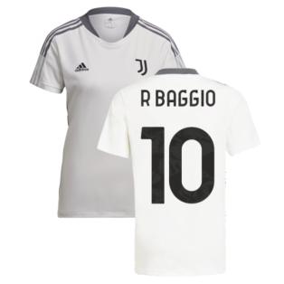 2021-2022 Juventus Training Shirt (White) - Ladies (R BAGGIO 10)