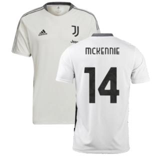 2021-2022 Juventus Training Shirt (White) (McKENNIE 14)