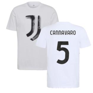 2021-2022 Juventus Training T-Shirt (White) (CANNAVARO 5)