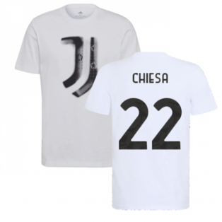 2021-2022 Juventus Training T-Shirt (White) (CHIESA 22)